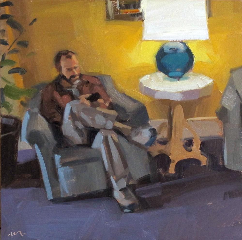 """""""Hotel Lobby"""" original fine art by Carol Marine"""