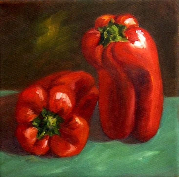 """Red Peppers"" original fine art by Irina Beskina"