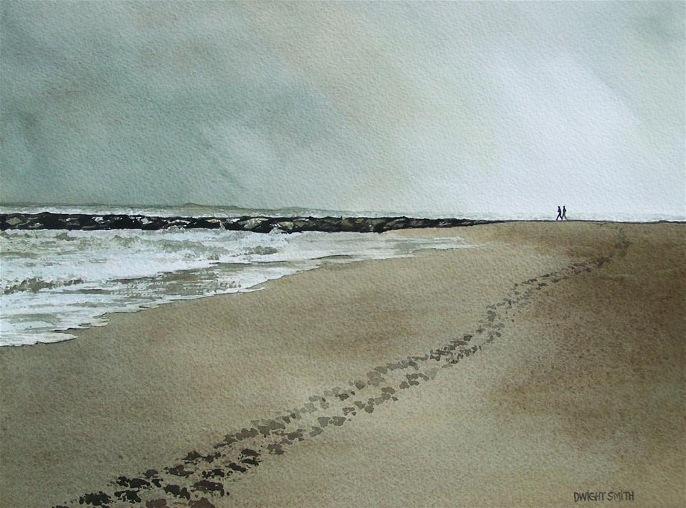 """ MORNING WALK "" original fine art by Dwight Smith"