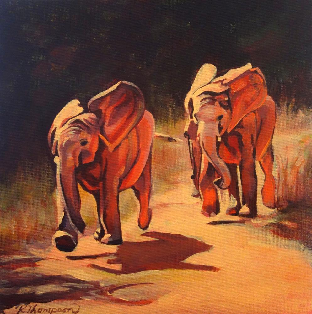 """Color Run"" original fine art by Rachel Thompson"