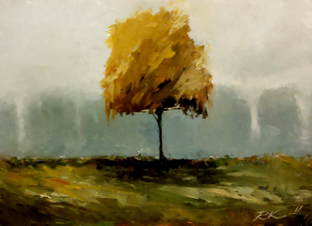 """Little Park Tree"" original fine art by Bob Kimball"