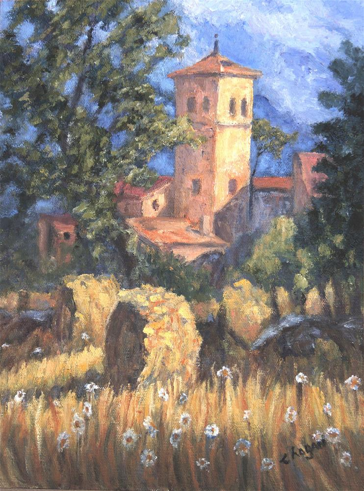 """Spanish Countryside"" original fine art by Candi Hogan"