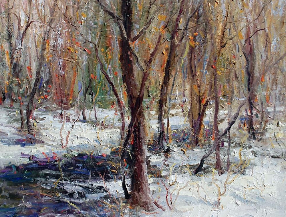 """Winter"" original fine art by Mahin Gholizadeh"