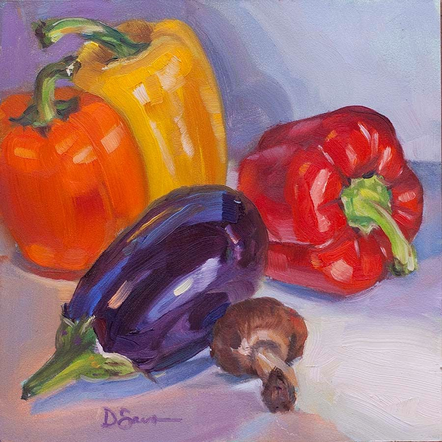 """Pepper Tango"" original fine art by Deborah Savo"