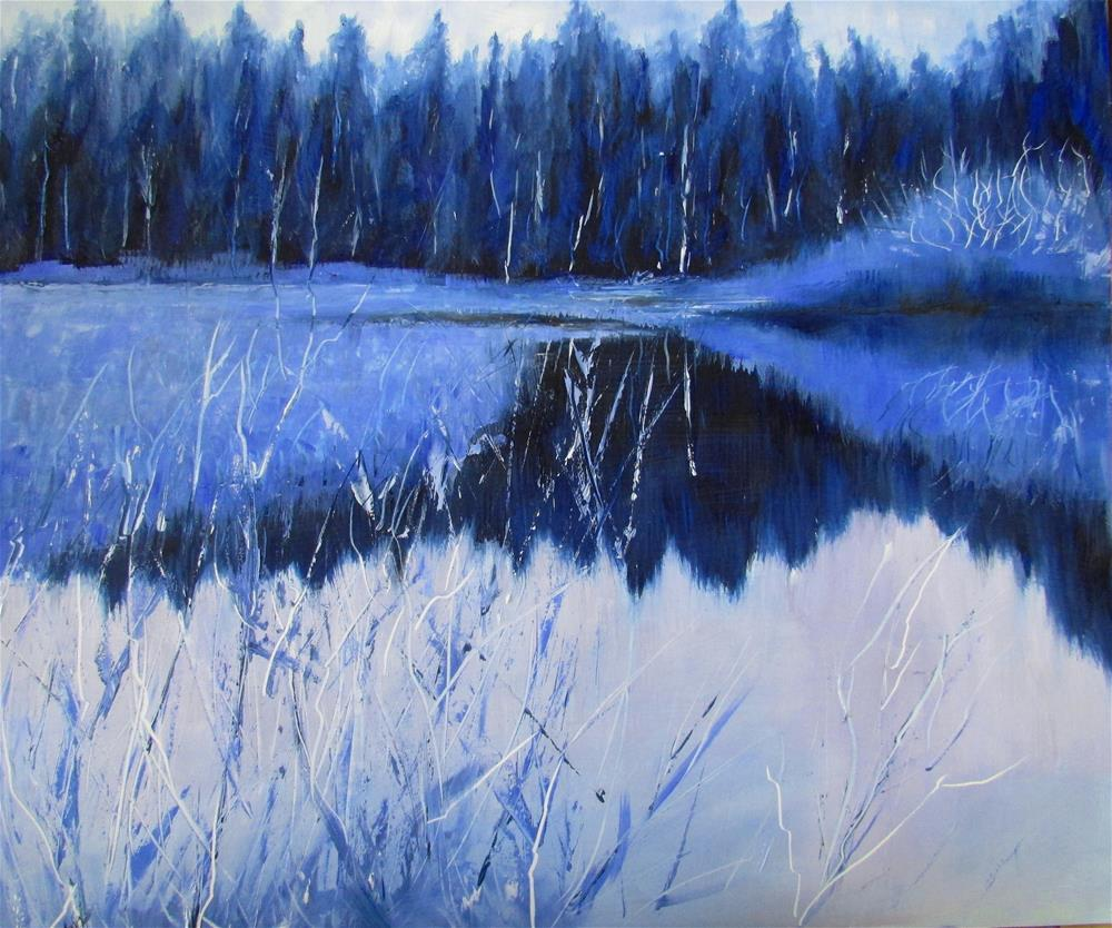 """12 X 14 Iinch oil A Blue Day"" original fine art by Linda Yurgensen"