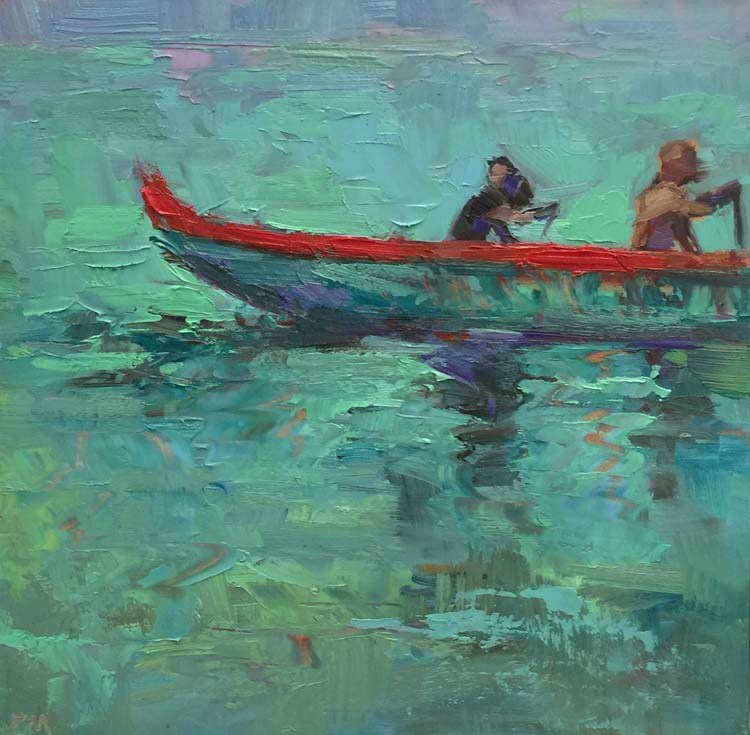 """Evening Oahu Oars"" original fine art by Patti McNutt"