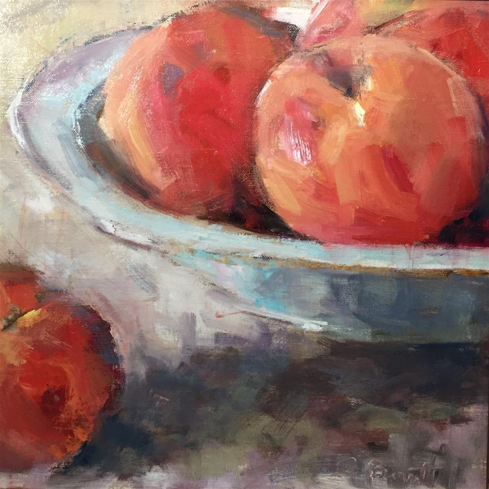"""Peachy Keen"" original fine art by Sherri Burritt"