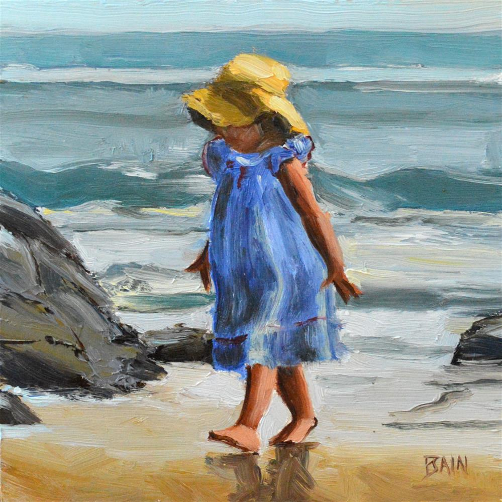 """Toddler, Ogunquit"" original fine art by Peter Bain"