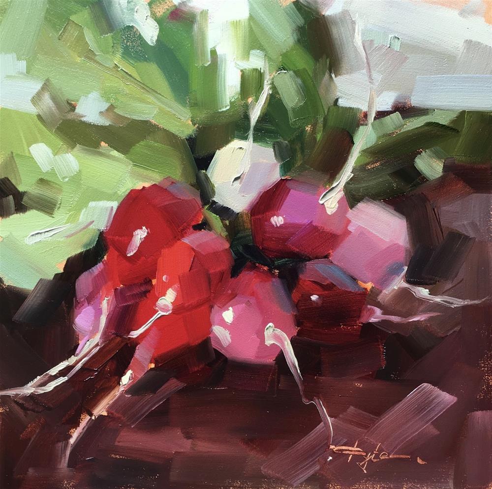 """Radishes"" original fine art by Katia Kyte"