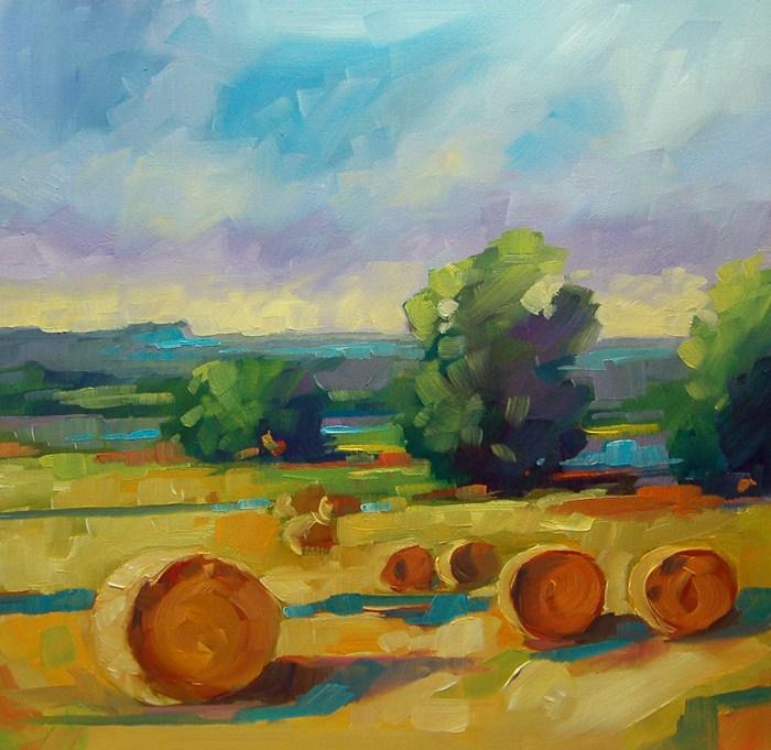 """""""No 505 Sumer Hay"""" original fine art by Robin J Mitchell"""