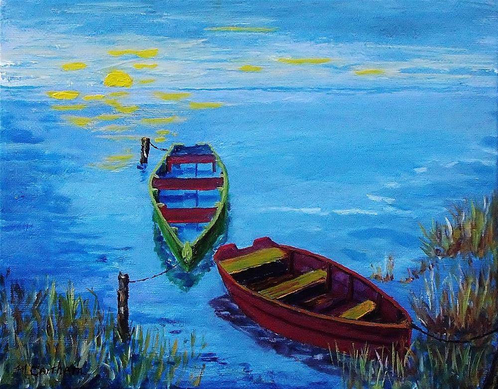 """Two Boats"" original fine art by Mike Caitham"
