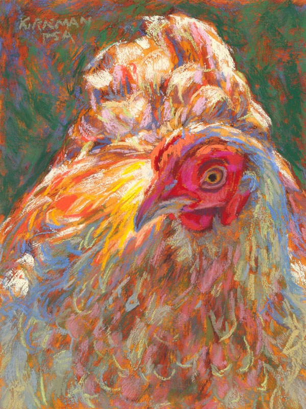"""Goldie Hen"" original fine art by Rita Kirkman"