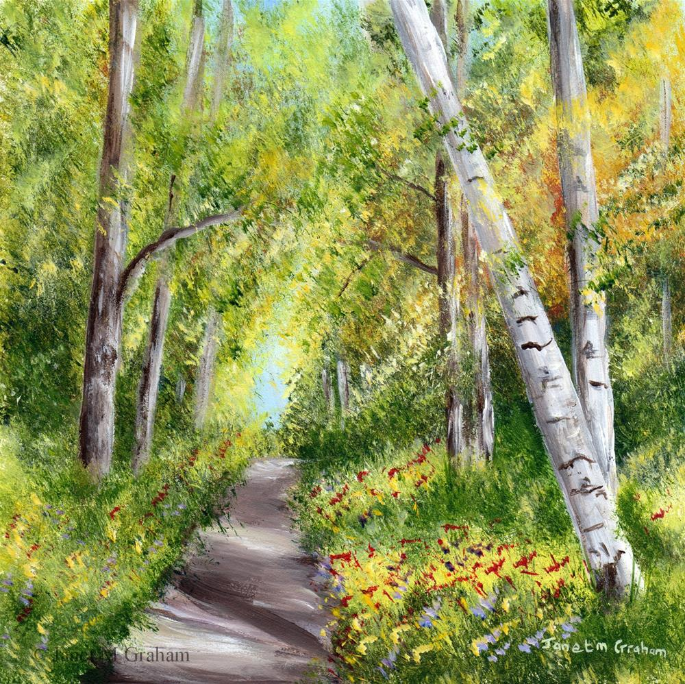 """Spring Path"" original fine art by Janet Graham"