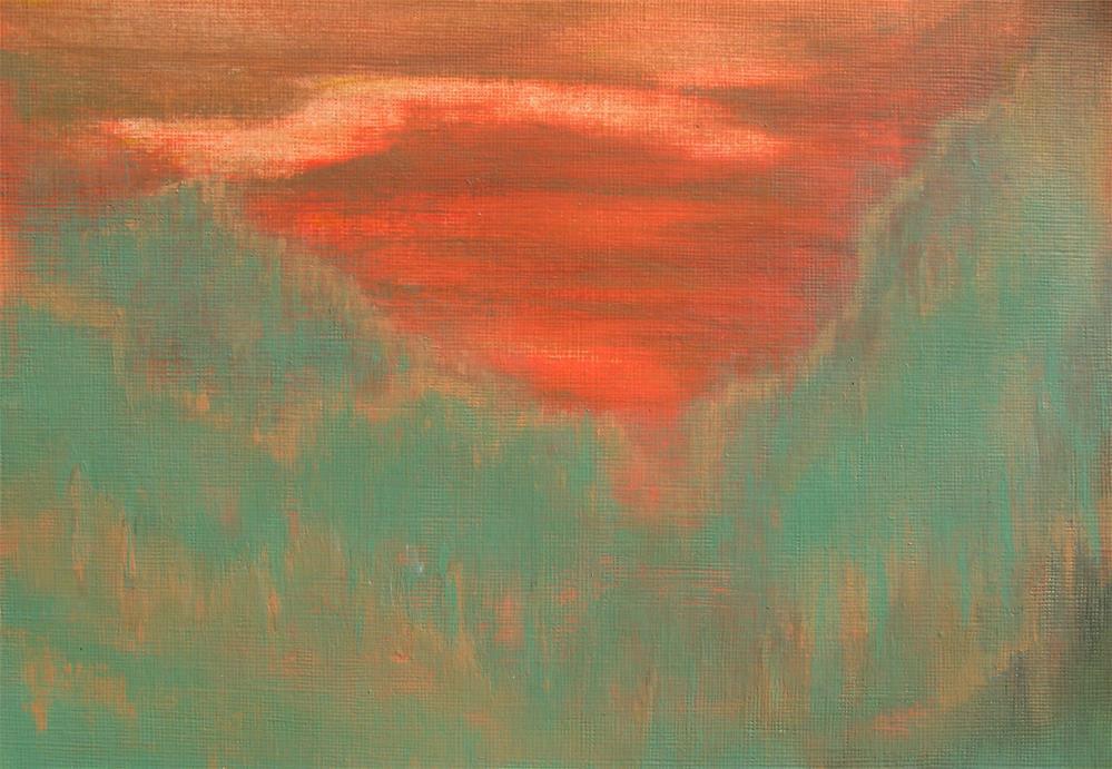"""""""Sunset Cliffs"""" original fine art by Alina Frent"""