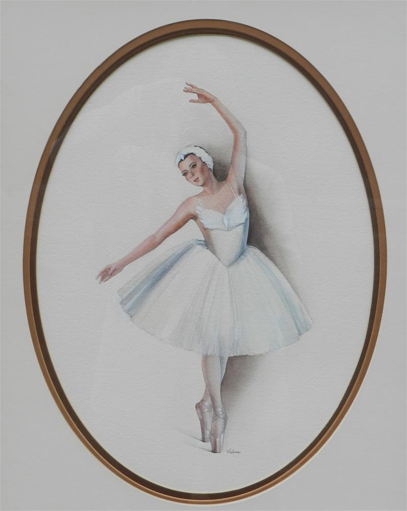 """Swan Lake"" original fine art by Velma Davies"