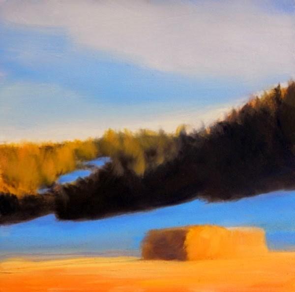 """""""Snow in the Shadows"""" original fine art by Carolyn Caldwell"""