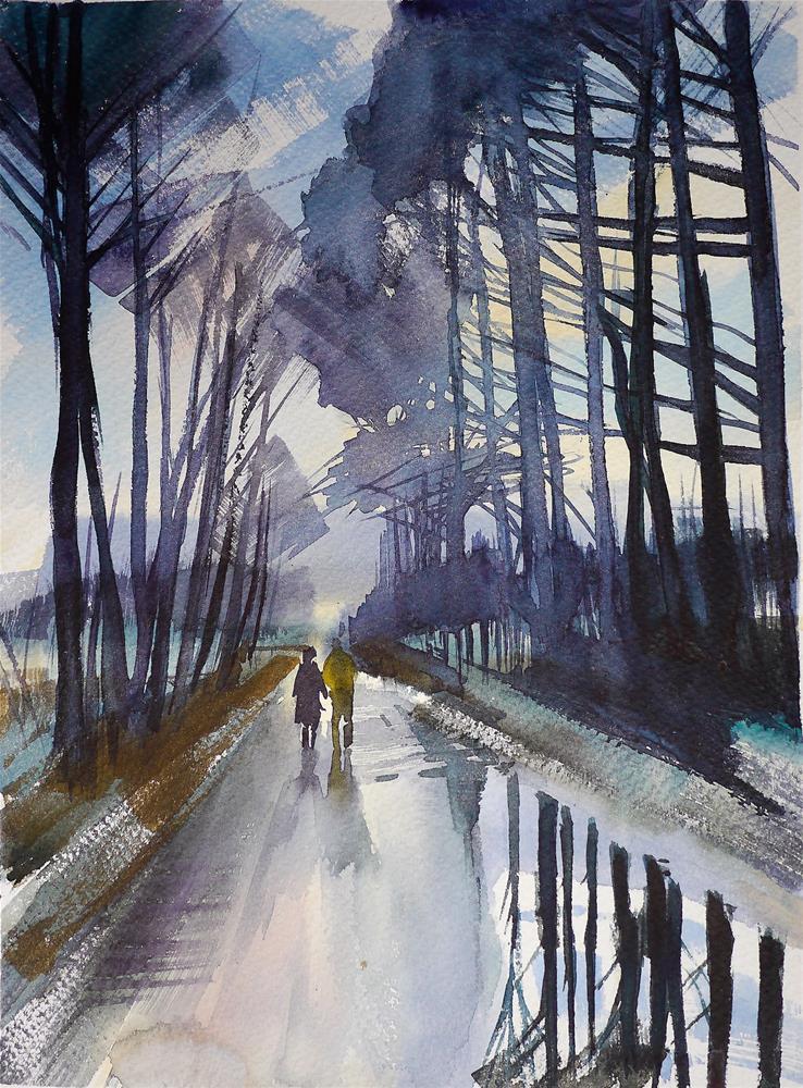 """rainy_day"" original fine art by Beata Musial-Tomaszewska"