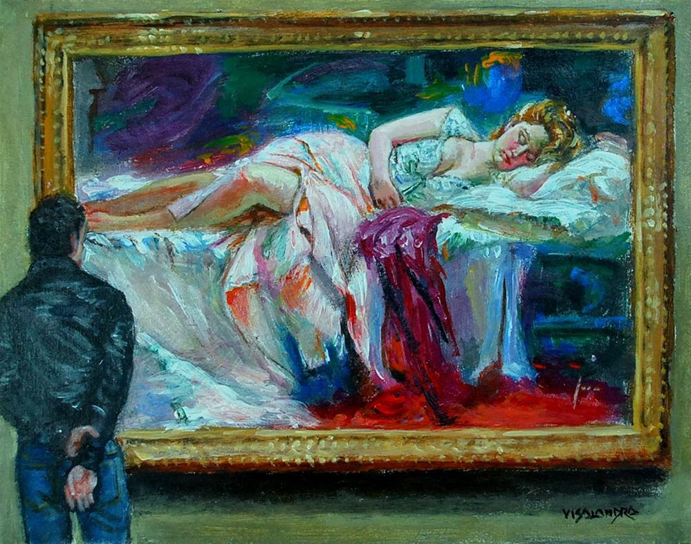 """Museumvisitor3"" original fine art by vishalandra dakur"
