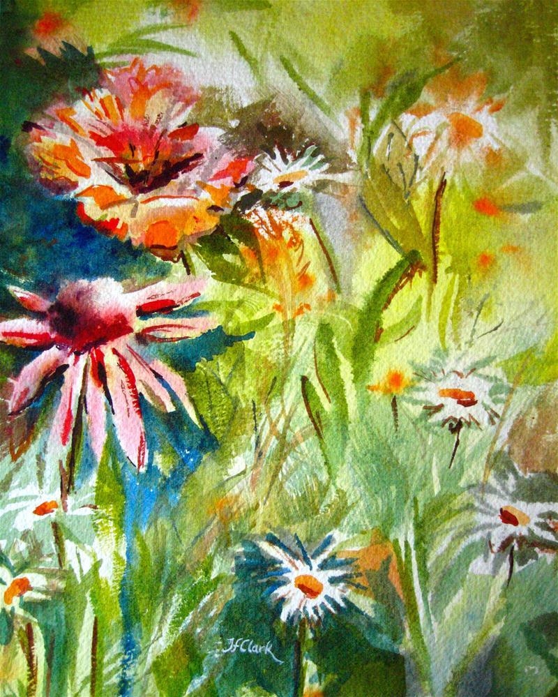 """50 Shades of Summer"" original fine art by Judith Freeman Clark"