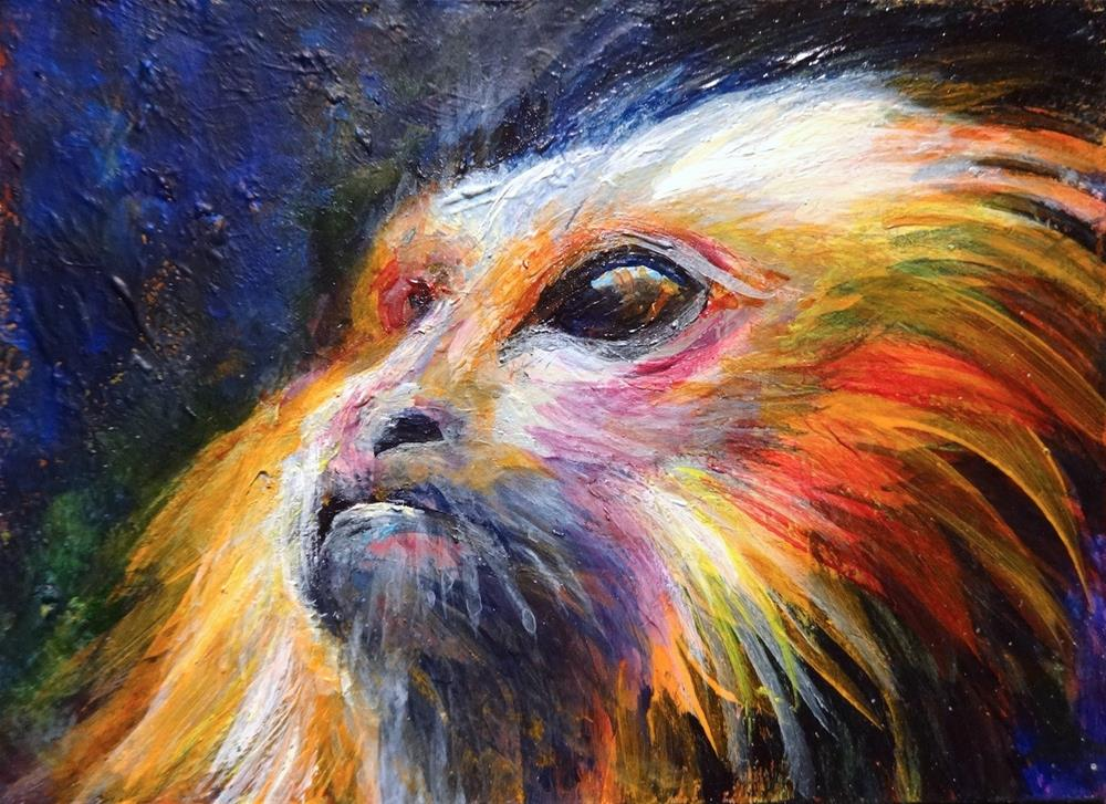 """5058 - Matted - TAMMY TAMARIN ACEO"" original fine art by Sea Dean"