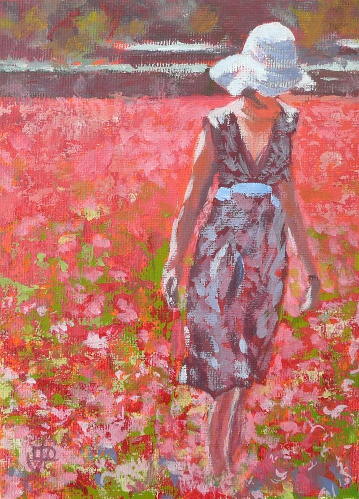"""""""Field Of Dreams"""" original fine art by Leanne Owen"""