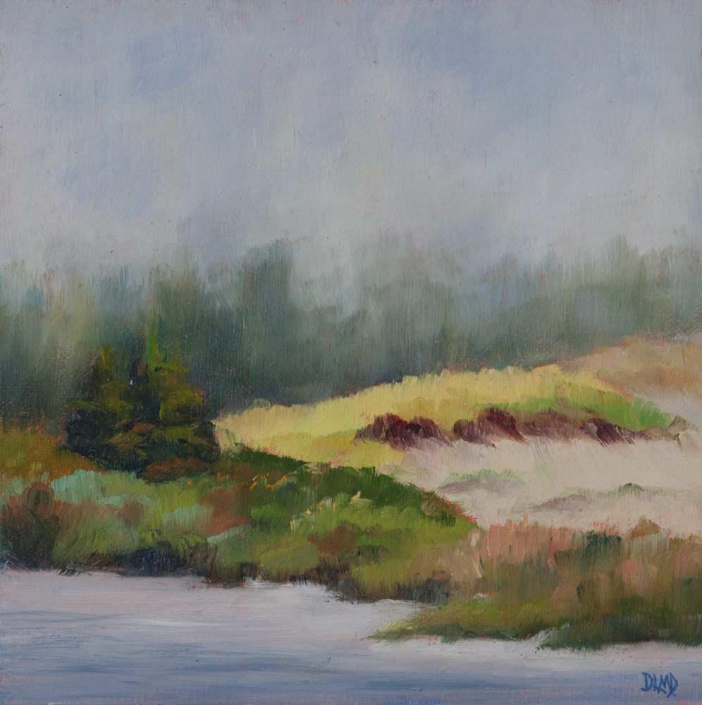 """Pockets of Sunlight and Sedum"" original fine art by Debbie Lamey-Macdonald"