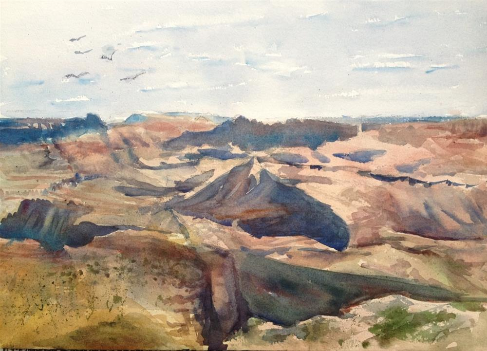 """Shadows from the South Rim"" original fine art by Claudia L Brookes"