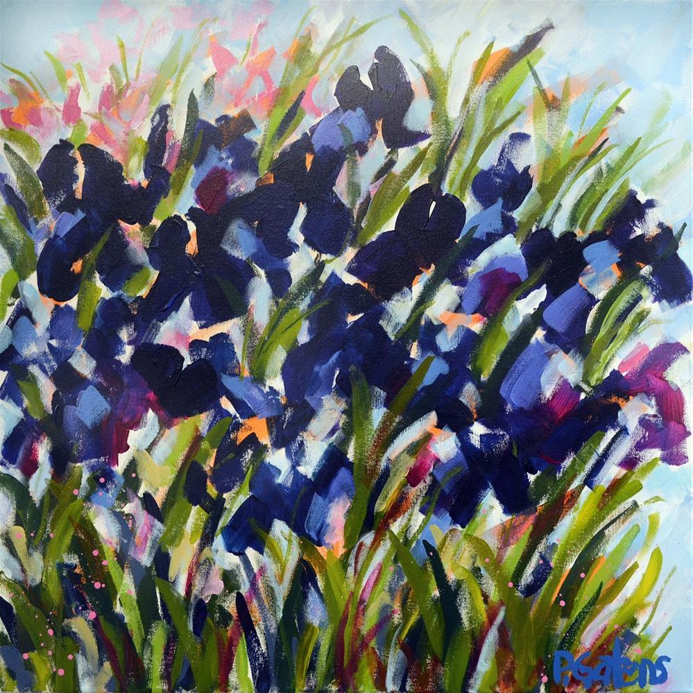 """""""Windy Hill Iris"""" original fine art by Pamela Gatens"""
