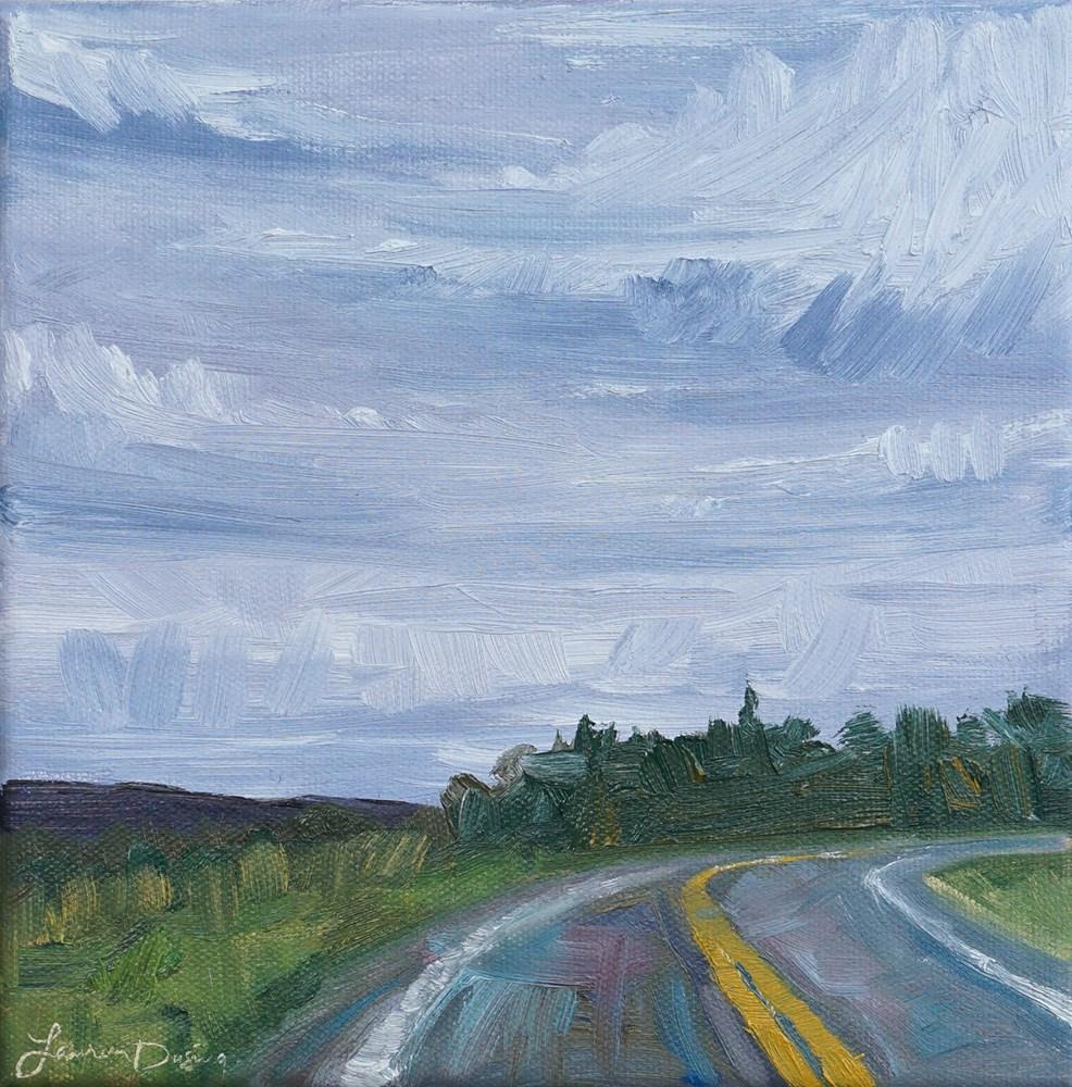 """Just Around the Bend"" original fine art by Lauren Dusing"