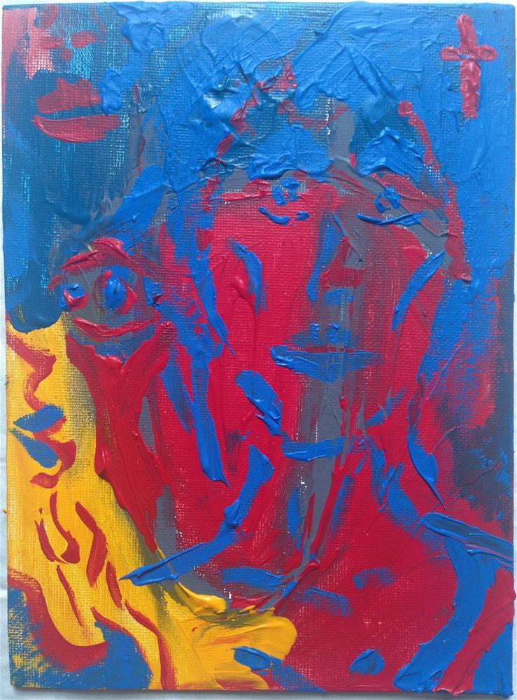"""""""In The Garden"""" original fine art by Ellis Charles Hoffmeister"""