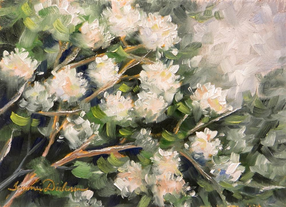 """Snowball Bush in May"" original fine art by Tammie Dickerson"