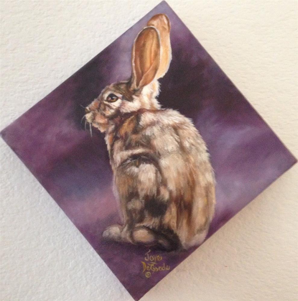 """Bunny Hop One"" original fine art by Joye DeGoede"