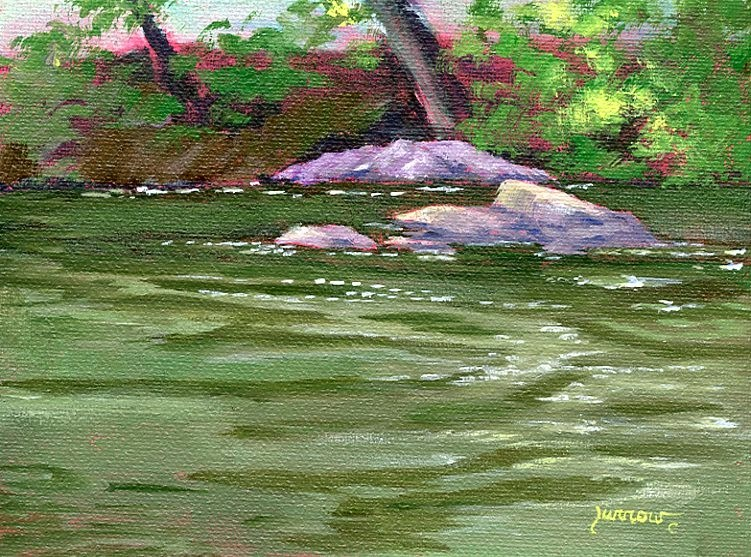 """River Rocks"" original fine art by Sue Furrow"