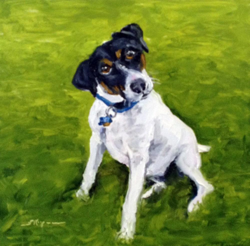 """""""Bradley at One Year"""" original fine art by Shelley Koopmann"""