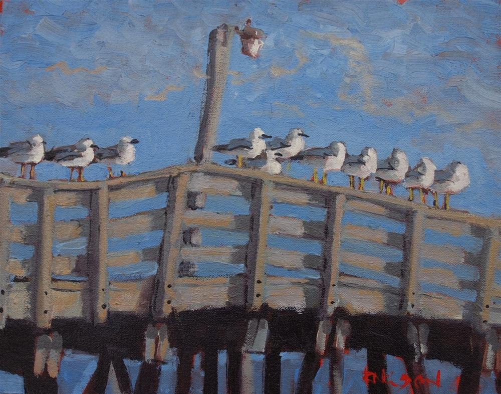 """The Gulls of Winter"" original fine art by Rick Nilson"