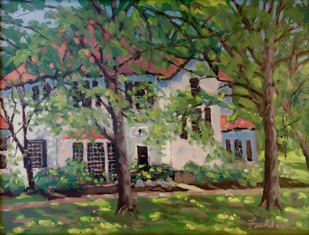 """The Tucker Home en Plein air"" original fine art by Daniel Fishback"