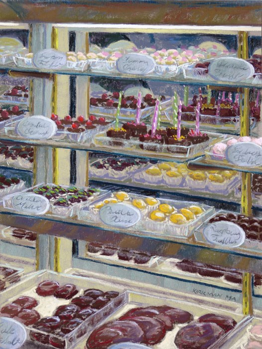 """Candyscape - Wins at Plein Air Event!"" original fine art by Rita Kirkman"