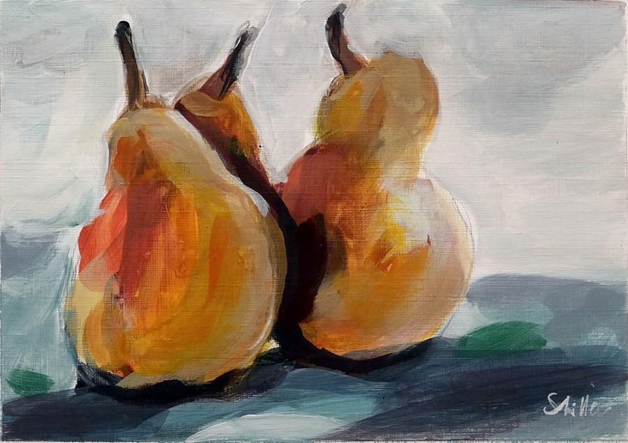 """1878 Pears"" original fine art by Dietmar Stiller"
