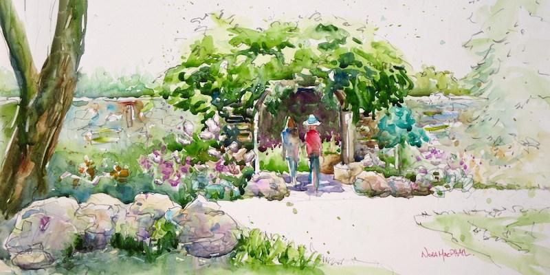 """""""under the garden gate"""" original fine art by Nora MacPhail"""
