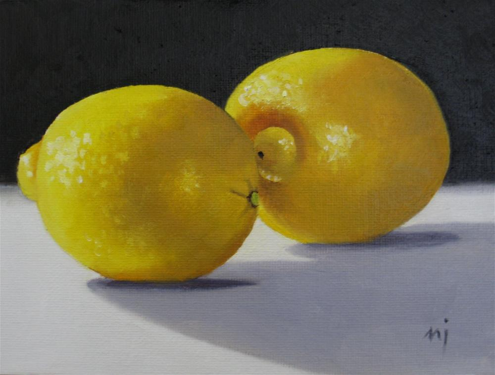 """Two Organic Lemons"" original fine art by Nel Jansen"