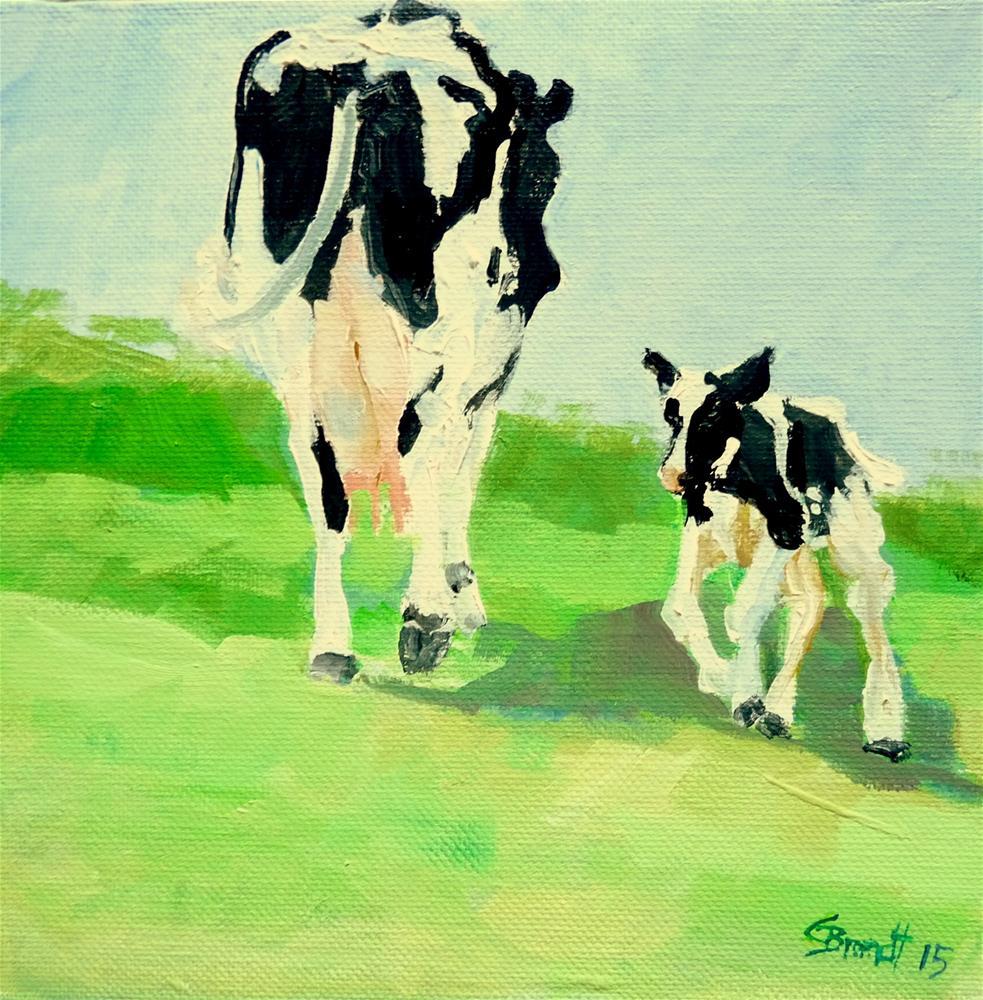"""mum with child"" original fine art by Claudia Brandt"