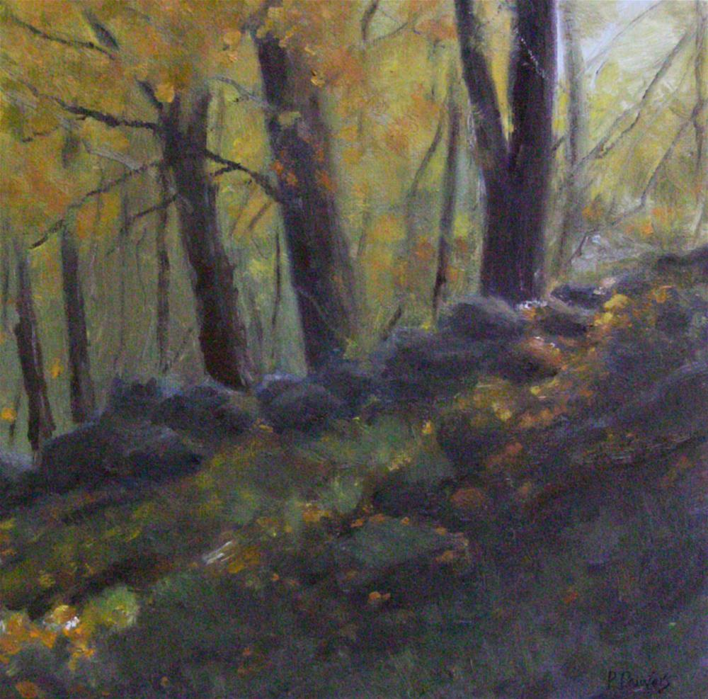 """The Old Stone Wall"" original fine art by Patricia J. Powers"