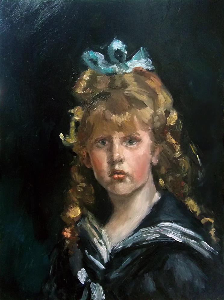 """Jacques Barenton John Singer Sargent Study"" original fine art by Aleksandra Uzarek"