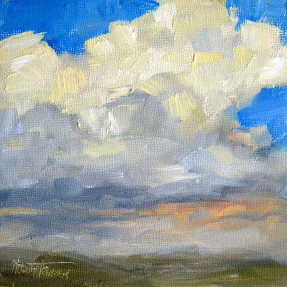 """Storm's a Brewin'"" original fine art by Melanie Thompson"