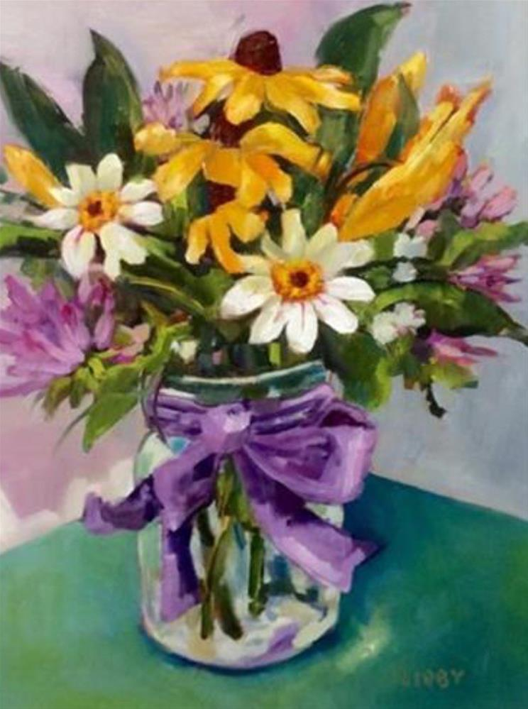 """""""Fay's Flowers"""" original fine art by Libby Anderson"""