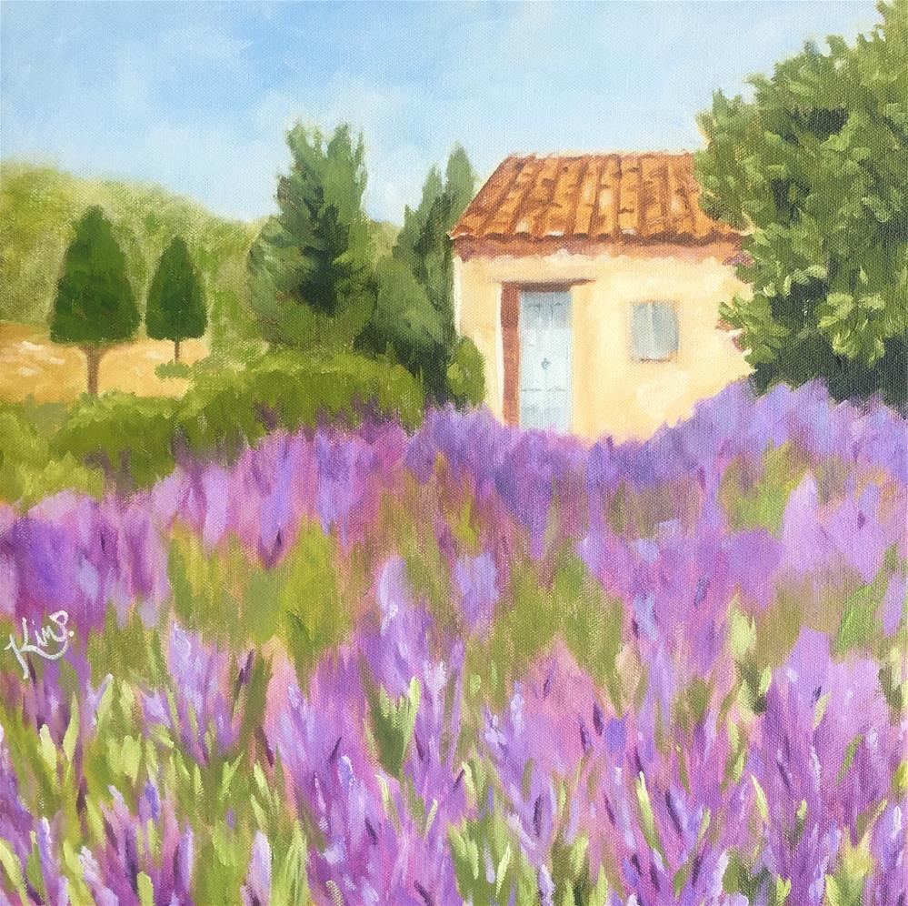 """Provence Landscape"" original fine art by Kim Peterson"