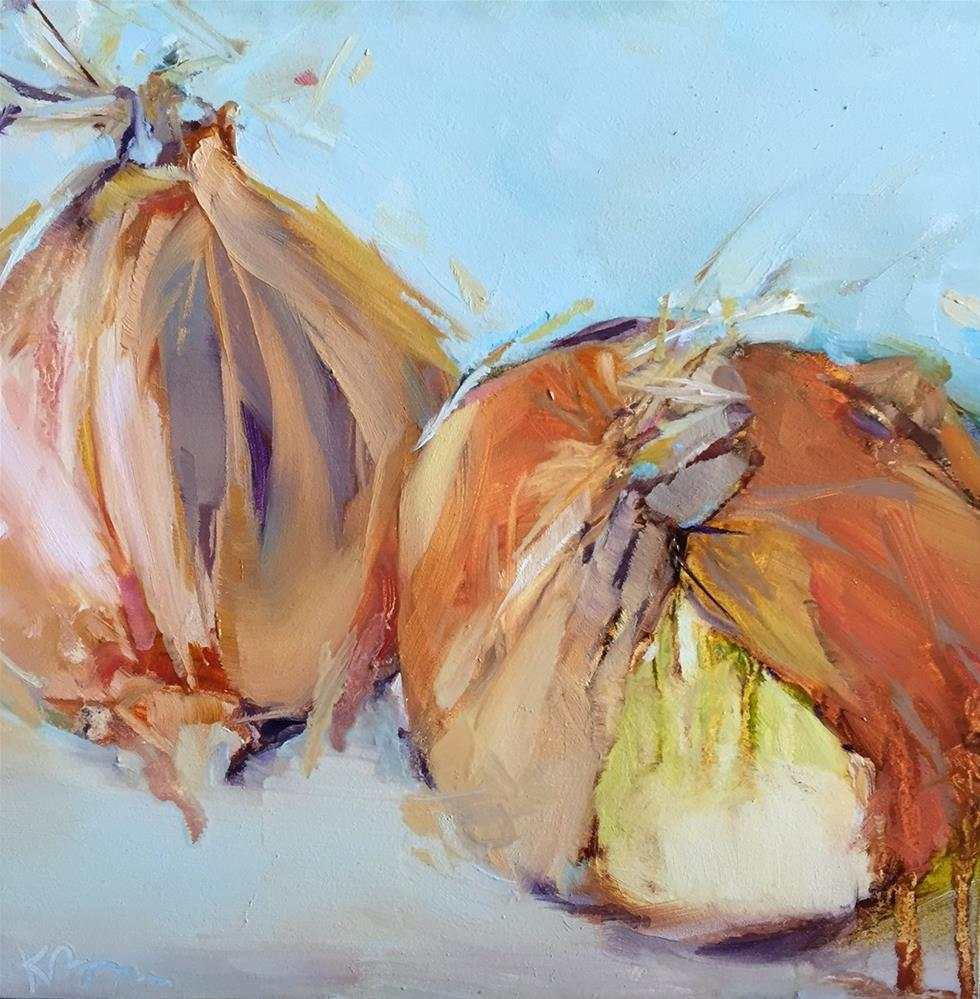 """Onion Soup"" original fine art by Kathleen Broaderick"