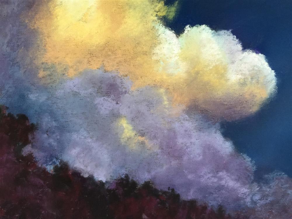 """Looming large "" original fine art by Jan Hutchinson"