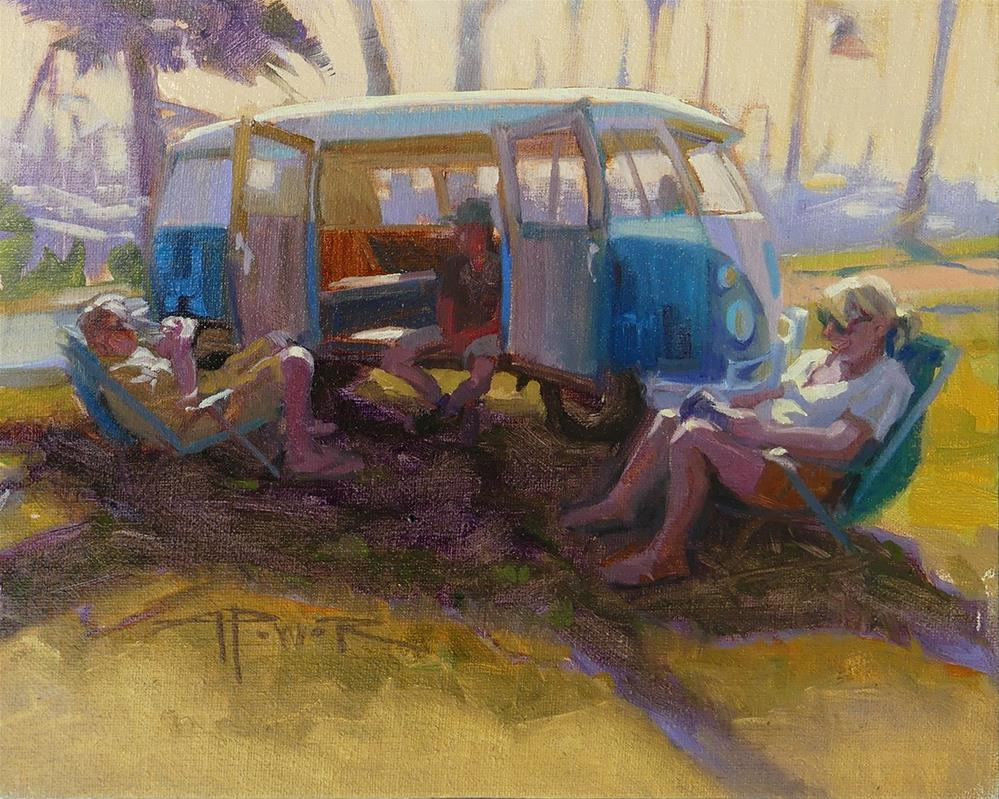 """Car Sketching - 6 of 30 - Harbor Hangout"" original fine art by Anette Power"