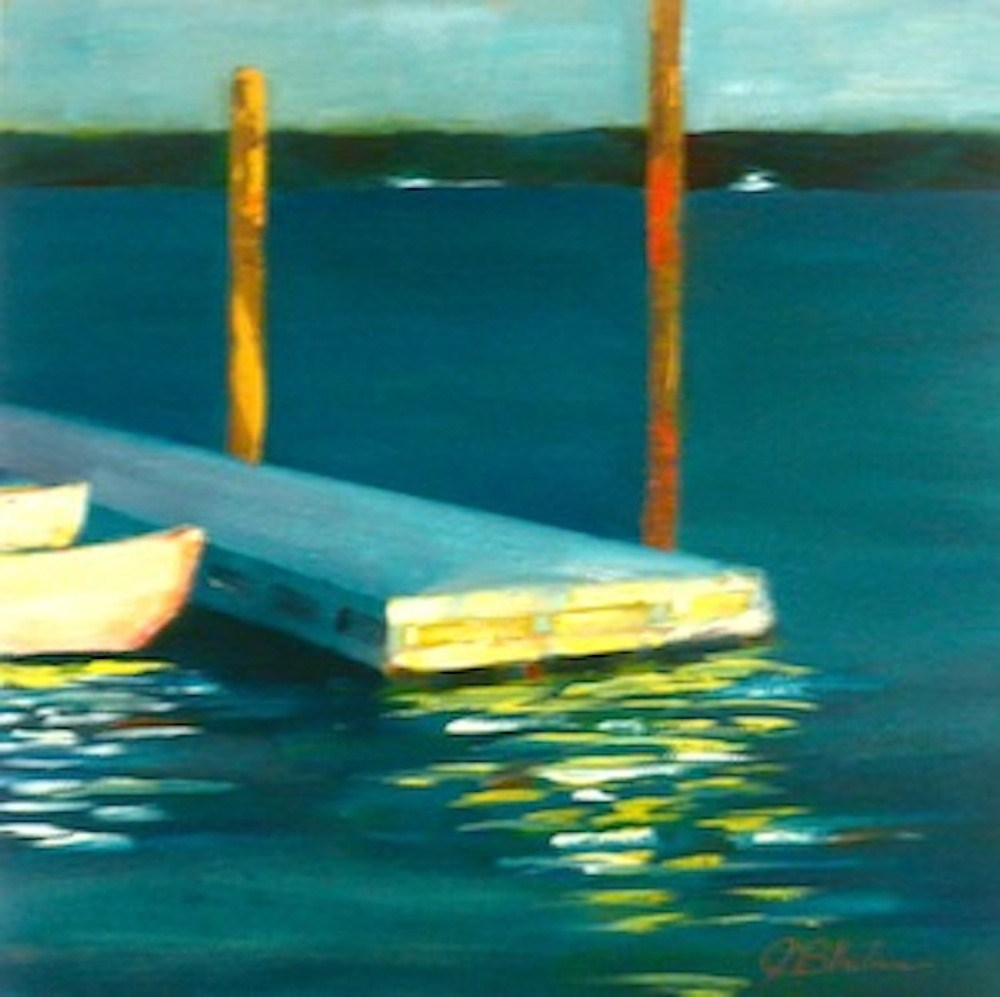 """Docked For The Day"" original fine art by Janet Bludau"